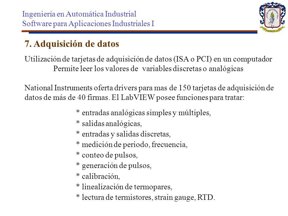 7. Adquisición de datos Ingeniería en Automática Industrial