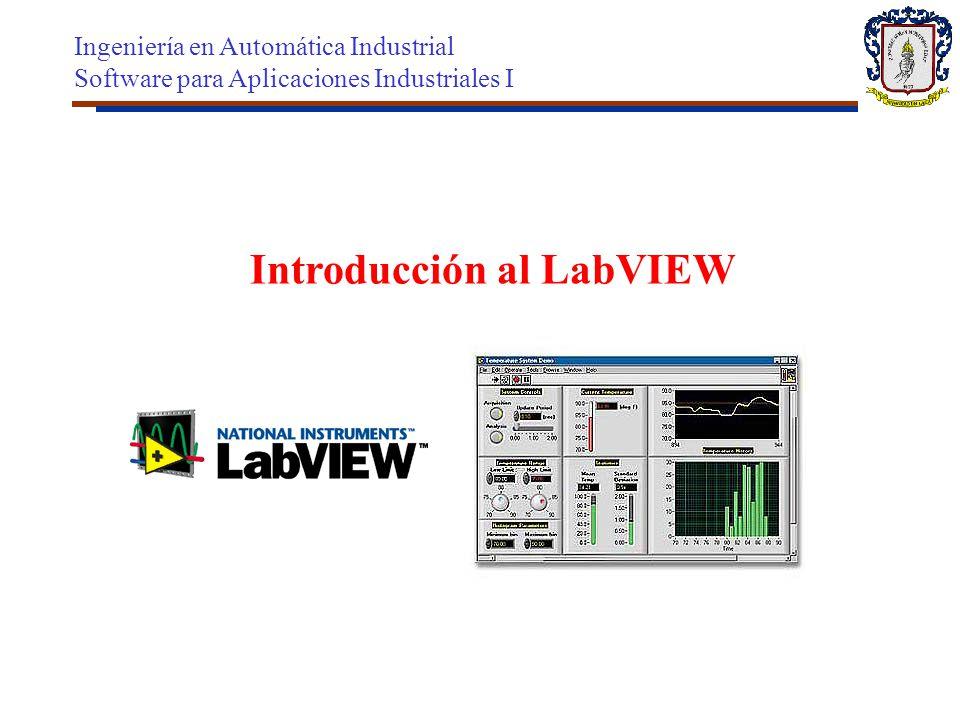 Introducción al LabVIEW