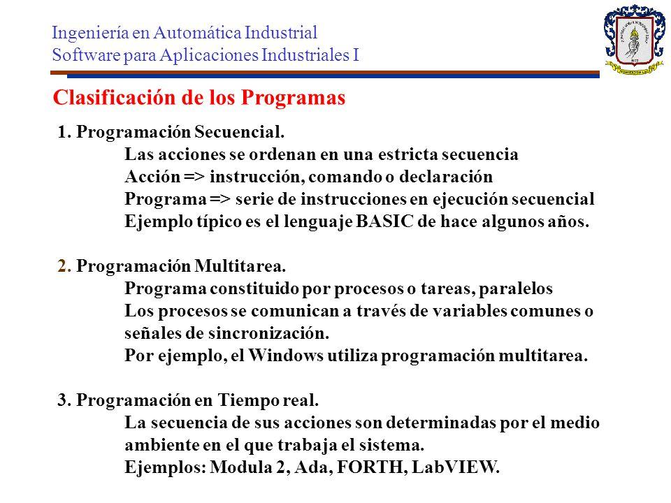 Clasificación de los Programas