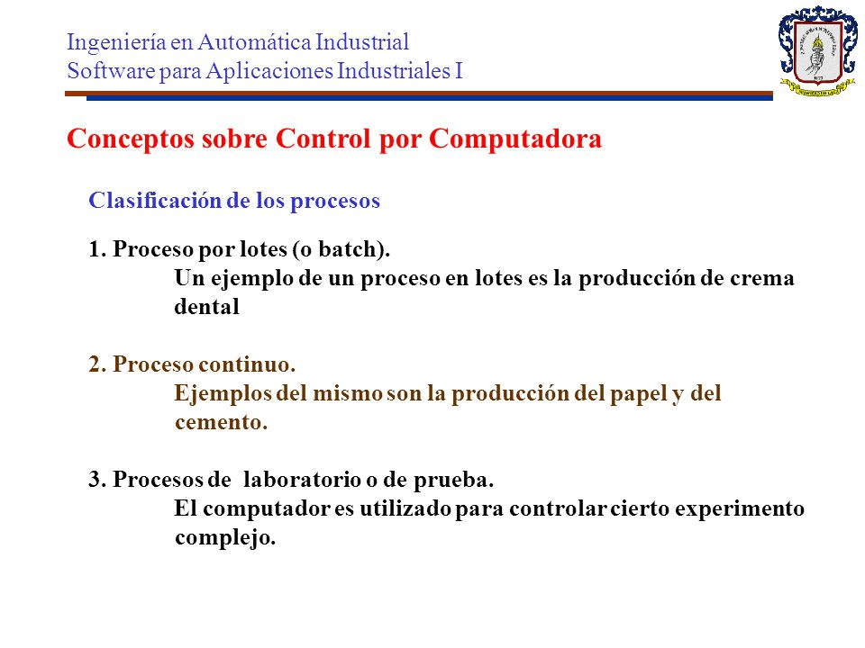 Conceptos sobre Control por Computadora
