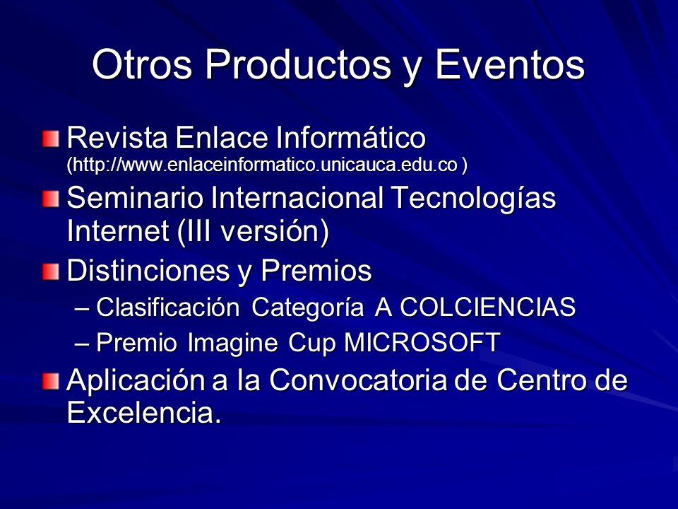 Otros Productos y Eventos