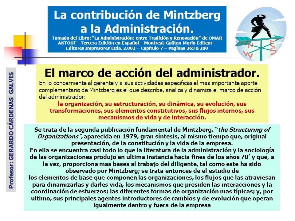 La contribución de Mintzberg a la Administración.