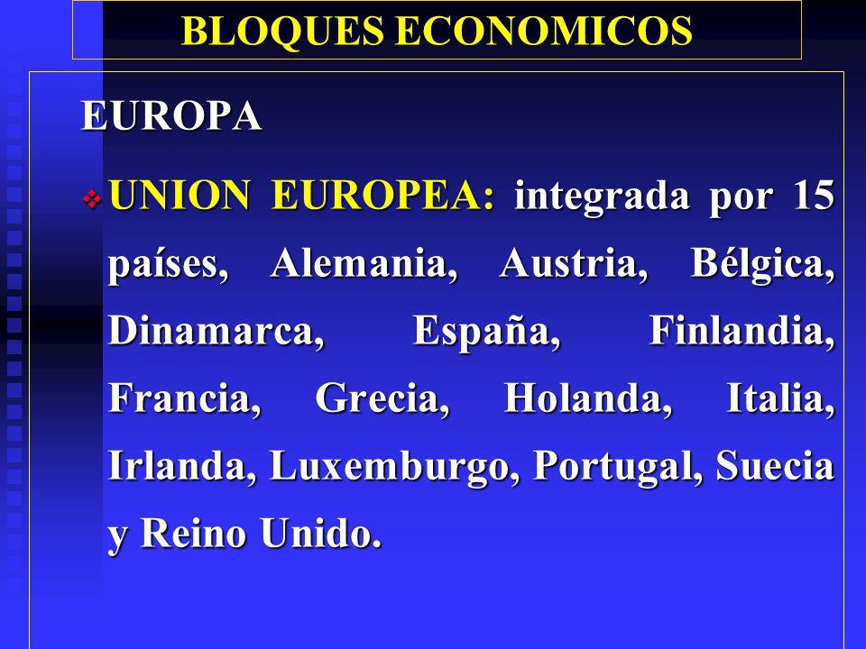 BLOQUES ECONOMICOS EUROPA.