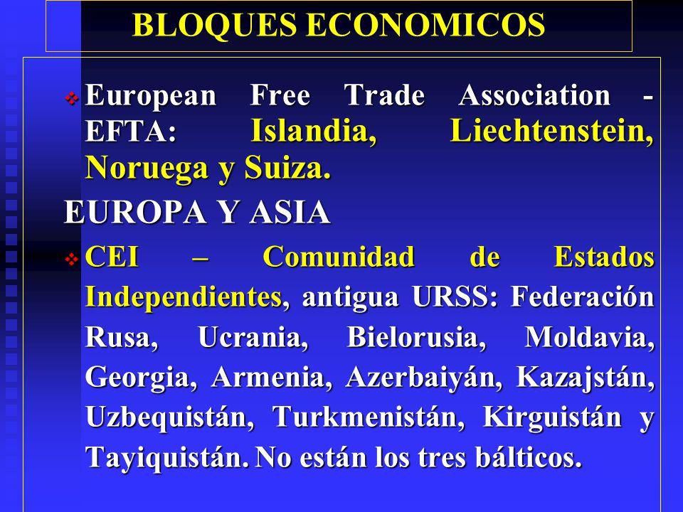 BLOQUES ECONOMICOS EUROPA Y ASIA