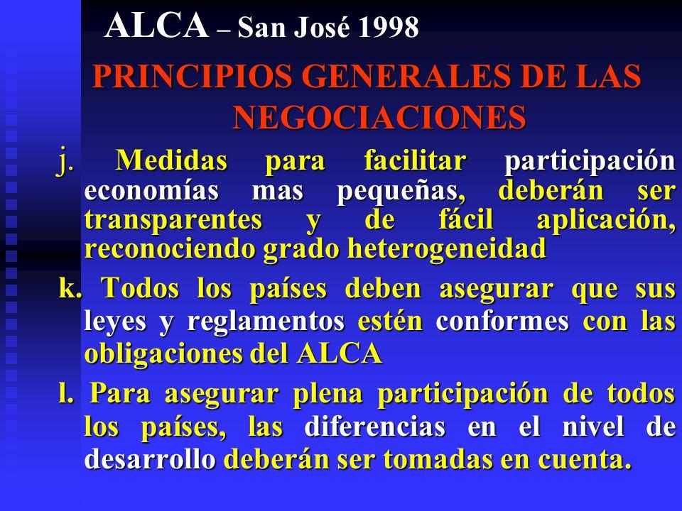 PRINCIPIOS GENERALES DE LAS NEGOCIACIONES
