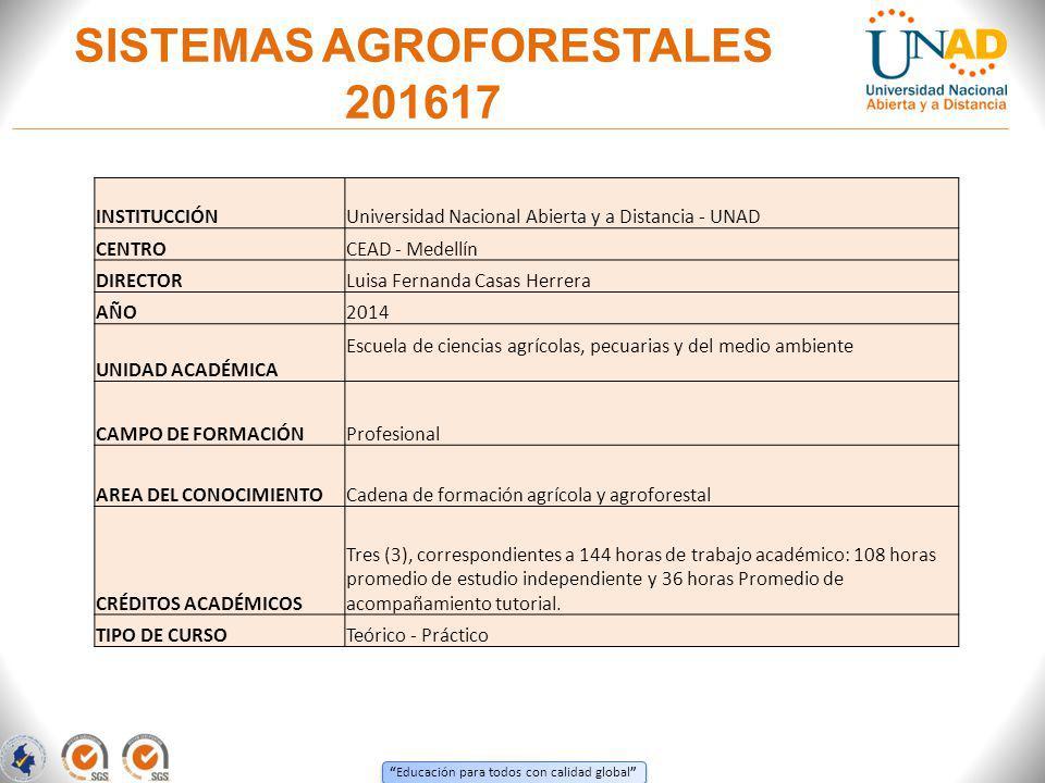SISTEMAS AGROFORESTALES 201617