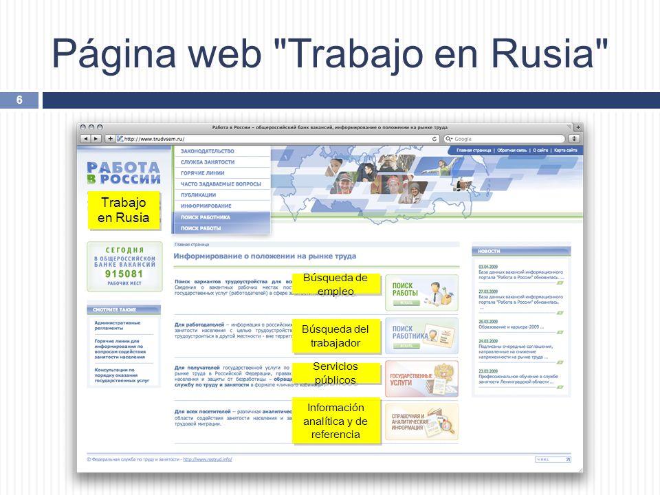 Página web Trabajo en Rusia