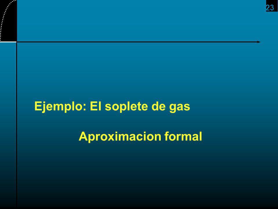 Ejemplo: El soplete de gas Aproximacion formal