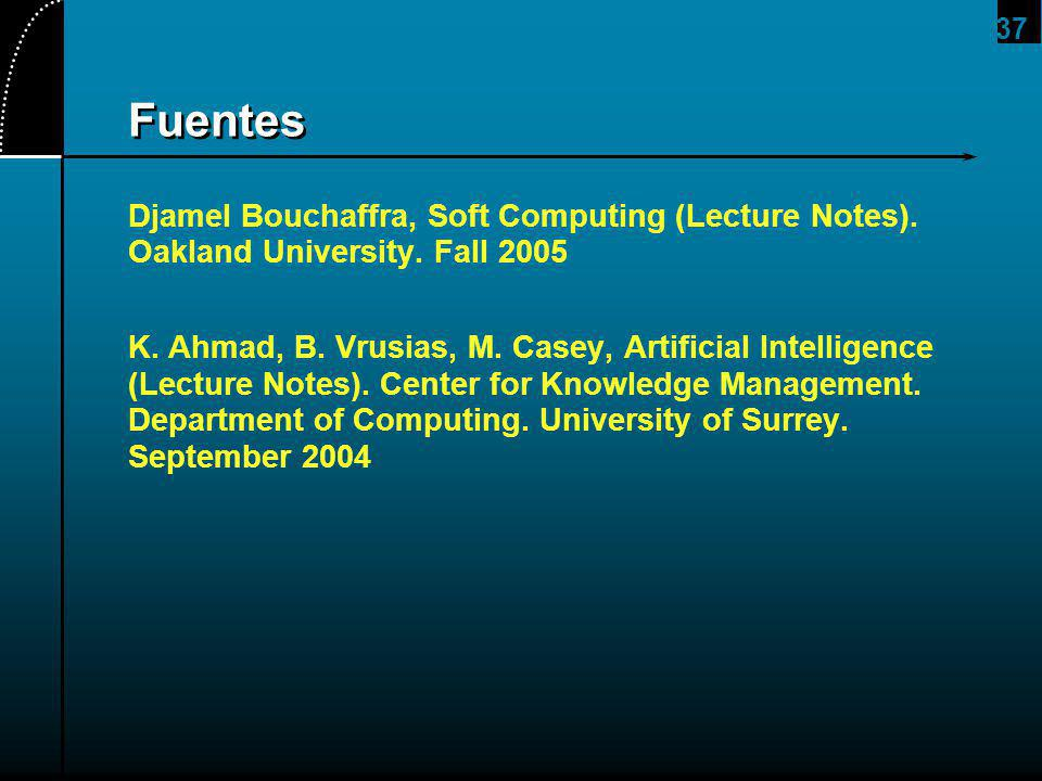 2017/4/1 Fuentes. Djamel Bouchaffra, Soft Computing (Lecture Notes). Oakland University. Fall 2005.