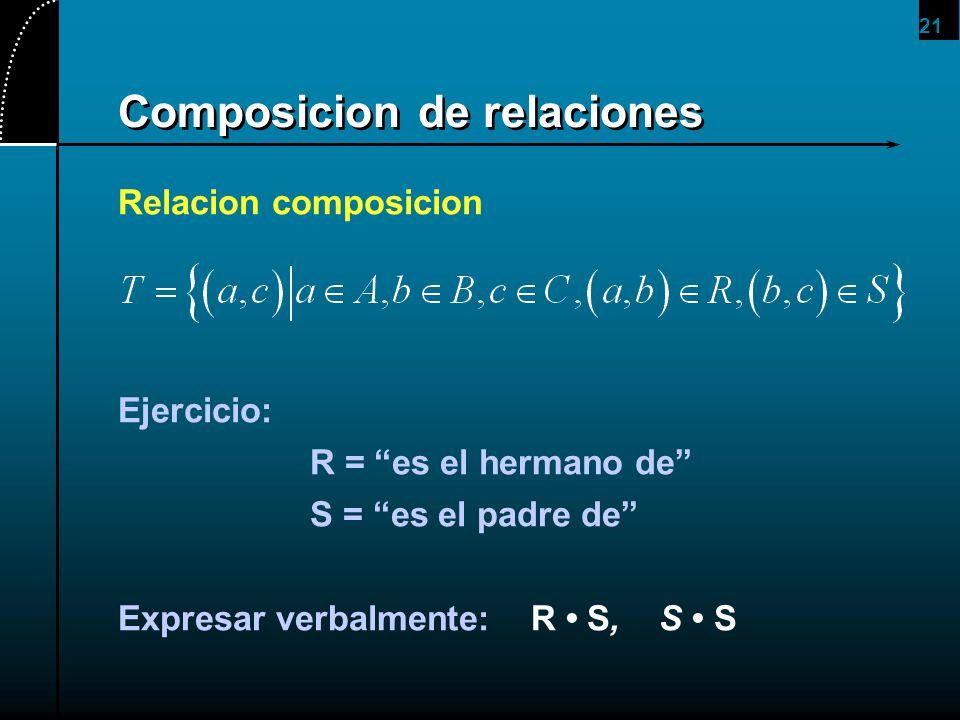 Composicion de relaciones