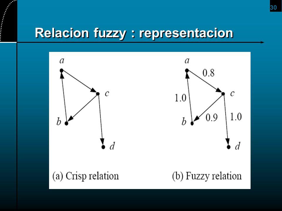 Relacion fuzzy : representacion