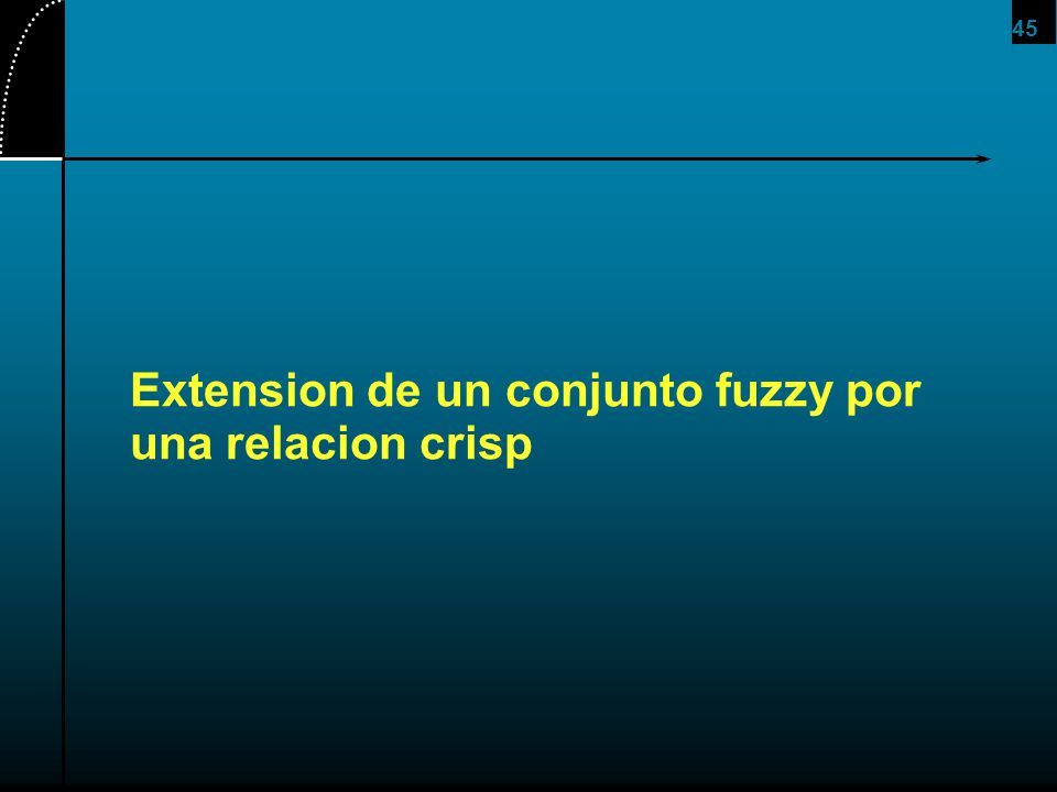 Extension de un conjunto fuzzy por una relacion crisp