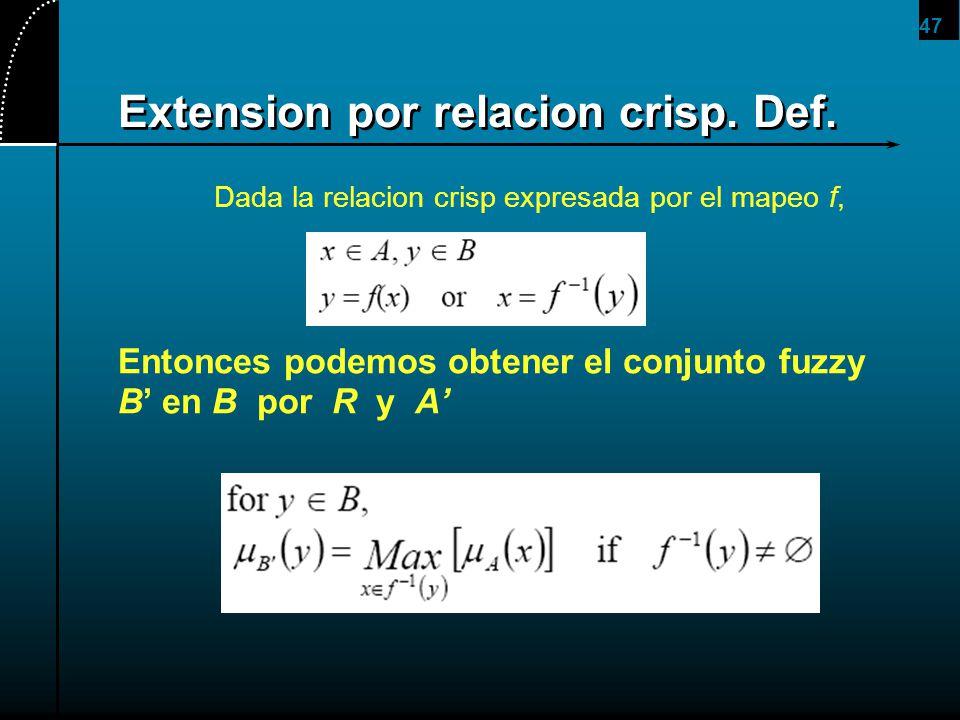 Extension por relacion crisp. Def.