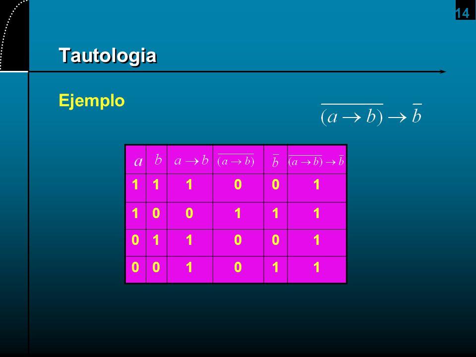 2017/4/1 Tautologia Ejemplo 1