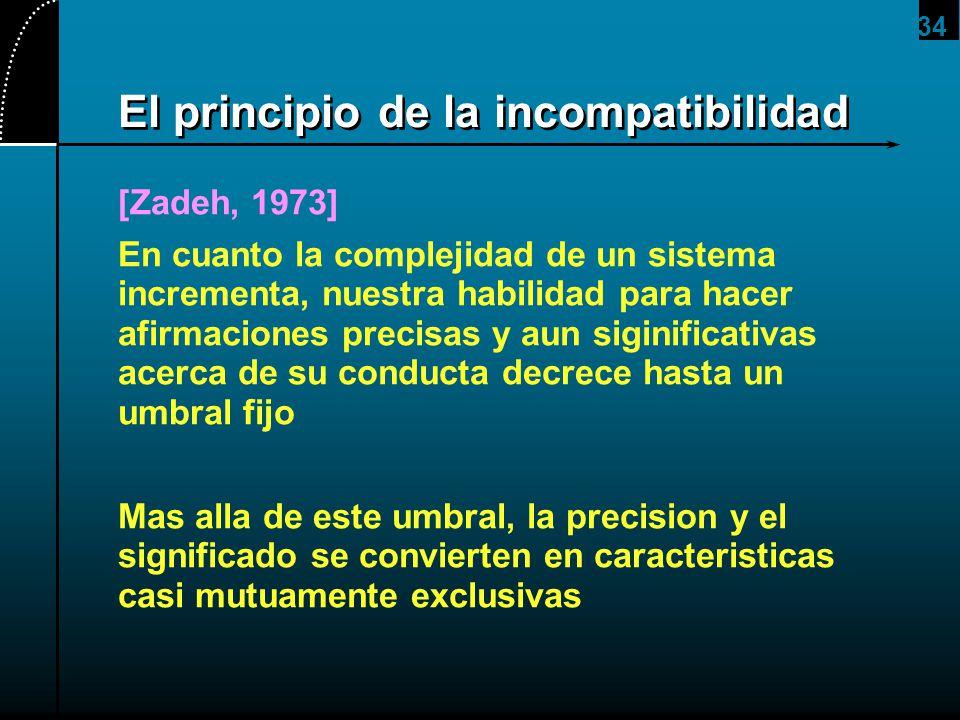 El principio de la incompatibilidad