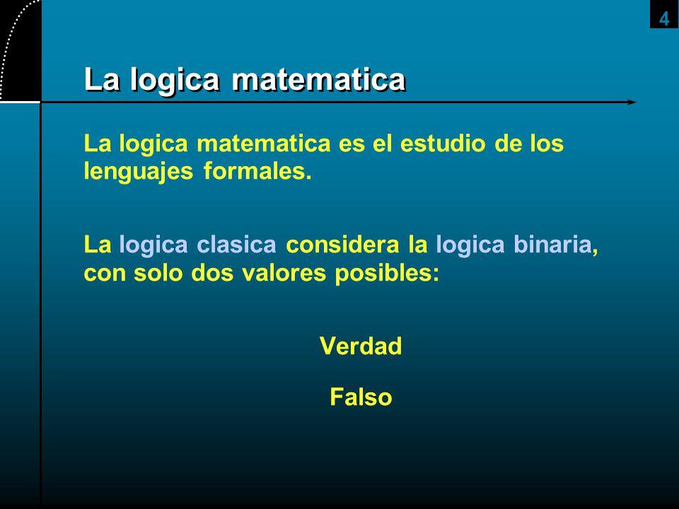 2017/4/1 La logica matematica. La logica matematica es el estudio de los lenguajes formales.