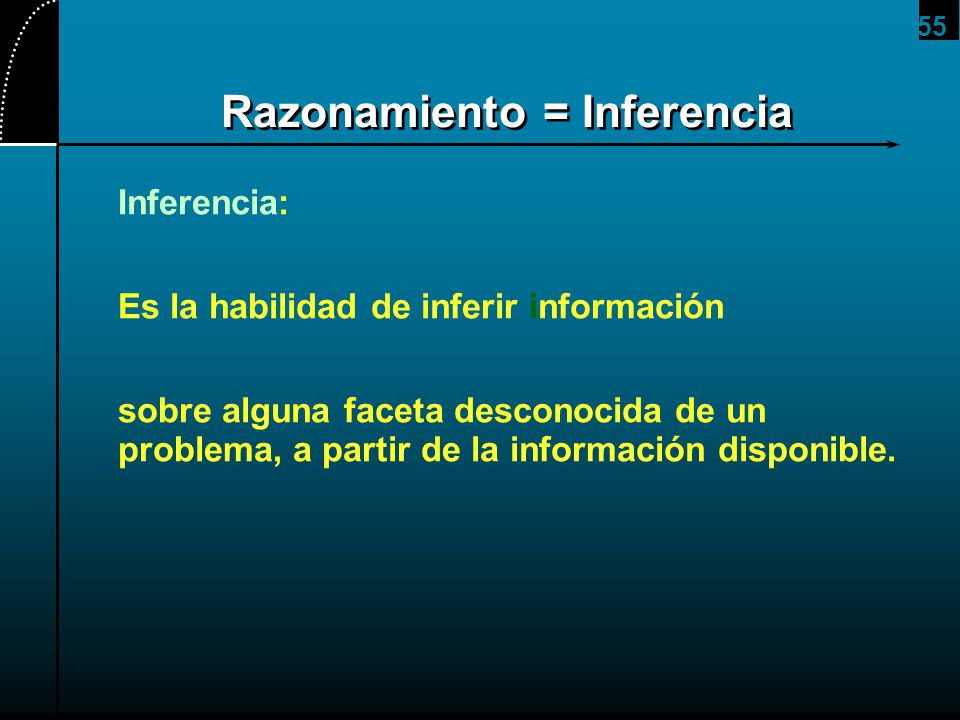 Razonamiento = Inferencia