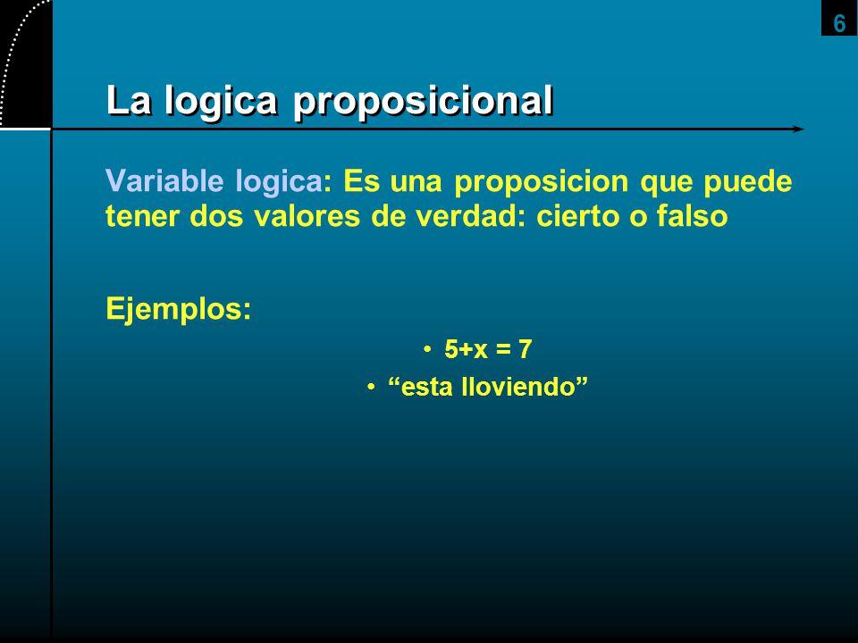 La logica proposicional