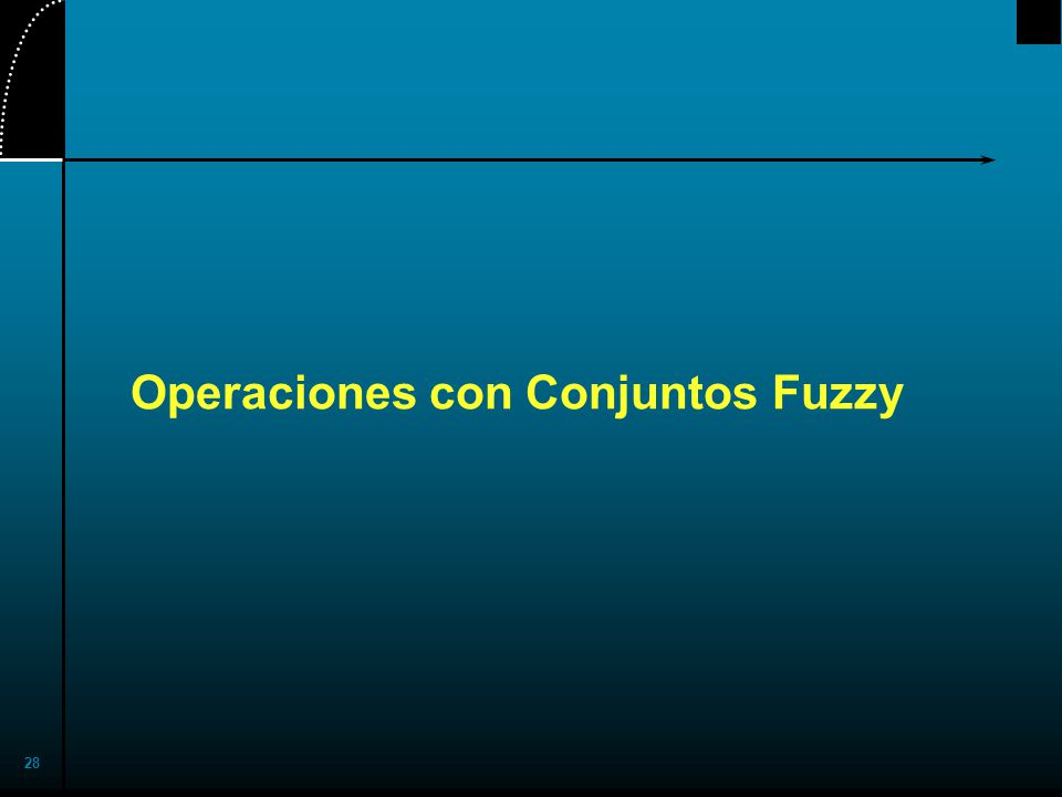 Operaciones con Conjuntos Fuzzy