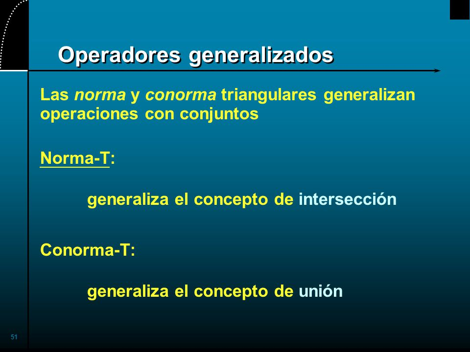 Operadores generalizados