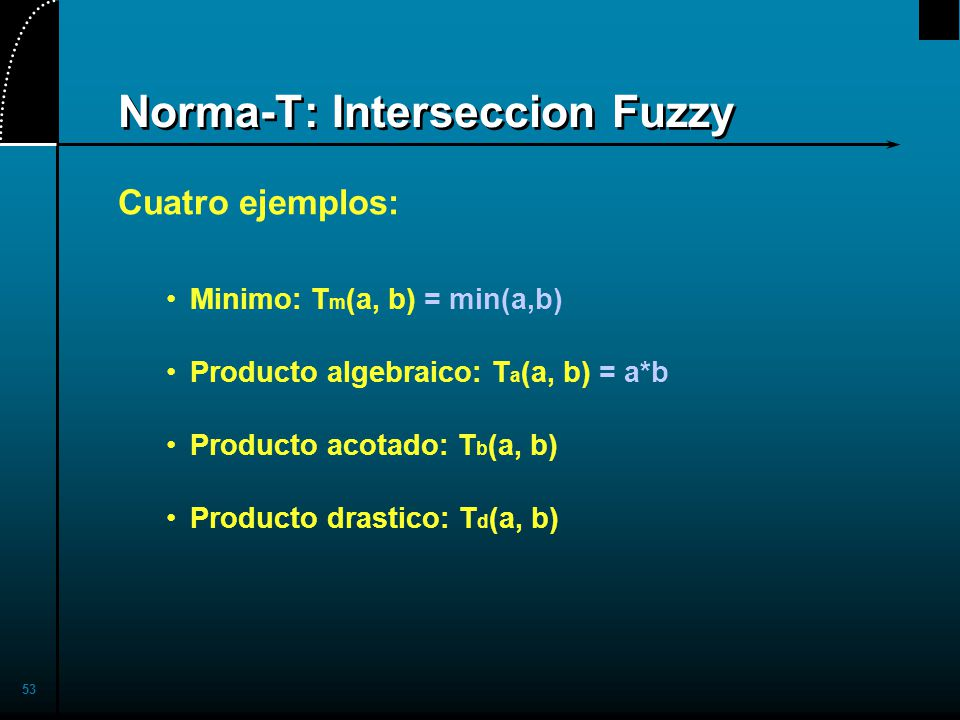 Norma-T: Interseccion Fuzzy