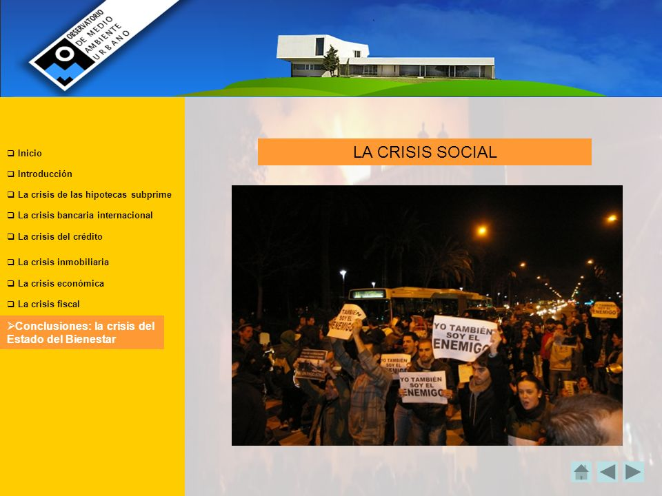 LA CRISIS SOCIAL Conclusiones: la crisis del Estado del Bienestar