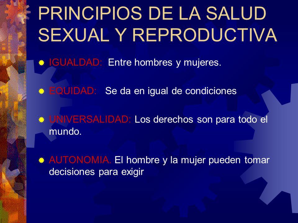 PRINCIPIOS DE LA SALUD SEXUAL Y REPRODUCTIVA