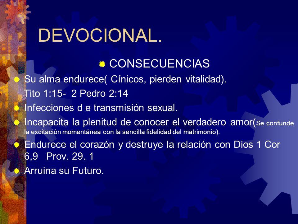 DEVOCIONAL. CONSECUENCIAS