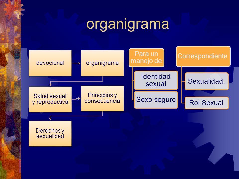 organigrama Correspondiente Para un manejo de Sexualidad. Rol Sexual