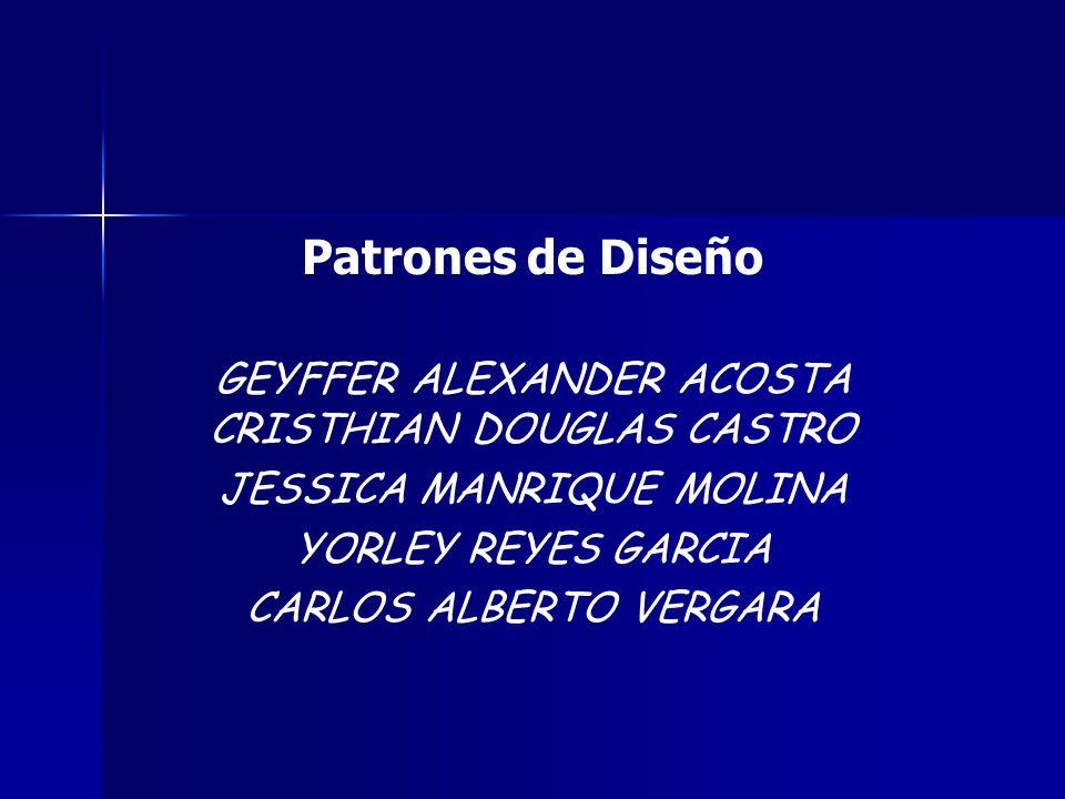 Patrones de Diseño GEYFFER ALEXANDER ACOSTA CRISTHIAN DOUGLAS CASTRO