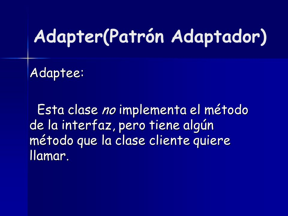 Adapter(Patrón Adaptador)