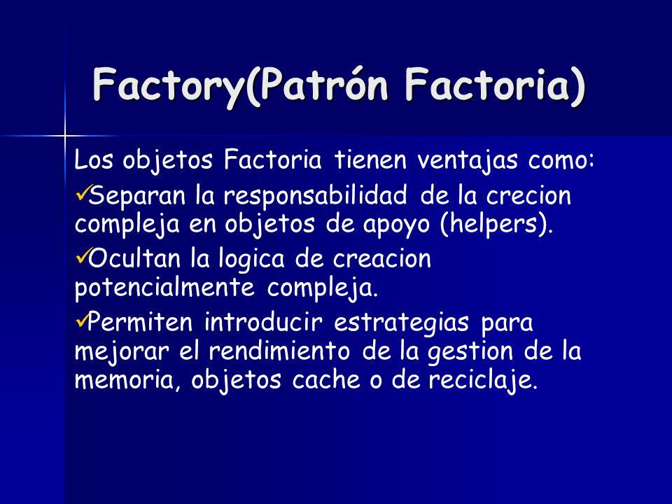 Factory(Patrón Factoria)