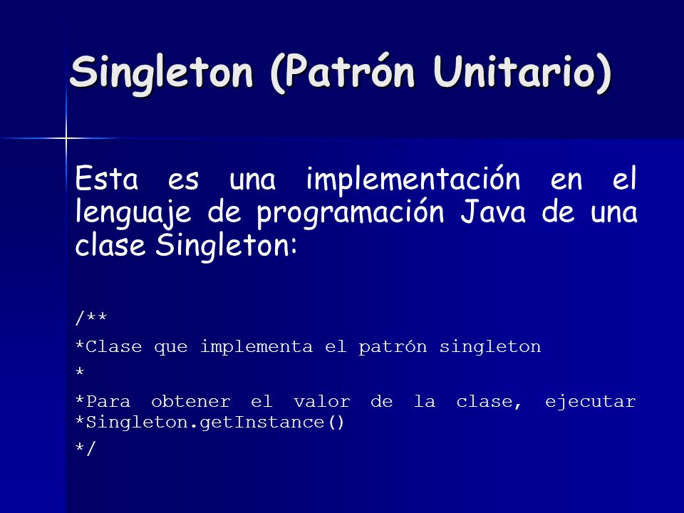 Singleton (Patrón Unitario)