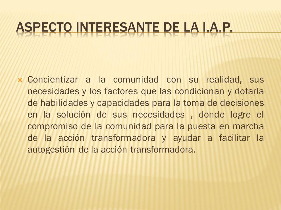 ASPECTO INTERESANTE DE LA I.A.P.