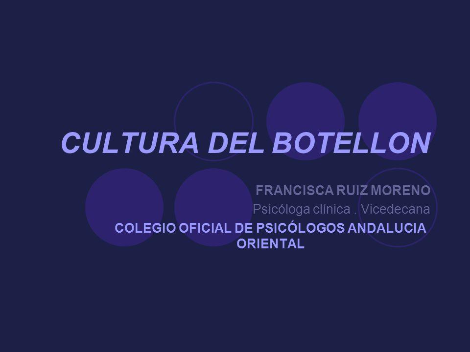 COLEGIO OFICIAL DE PSICÓLOGOS ANDALUCIA ORIENTAL