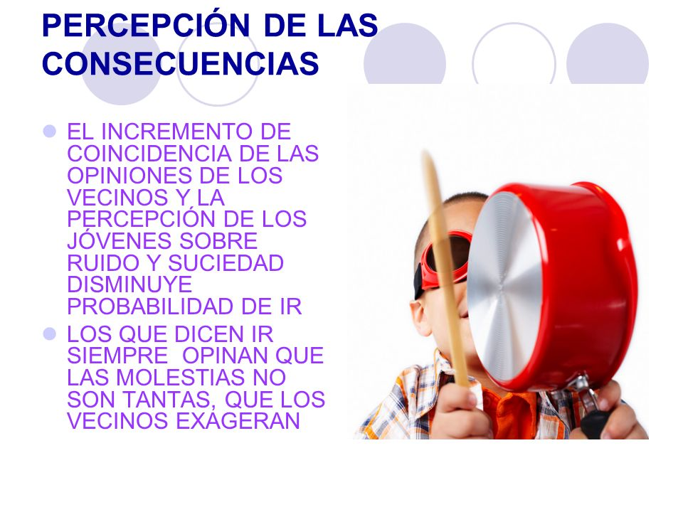 PERCEPCIÓN DE LAS CONSECUENCIAS