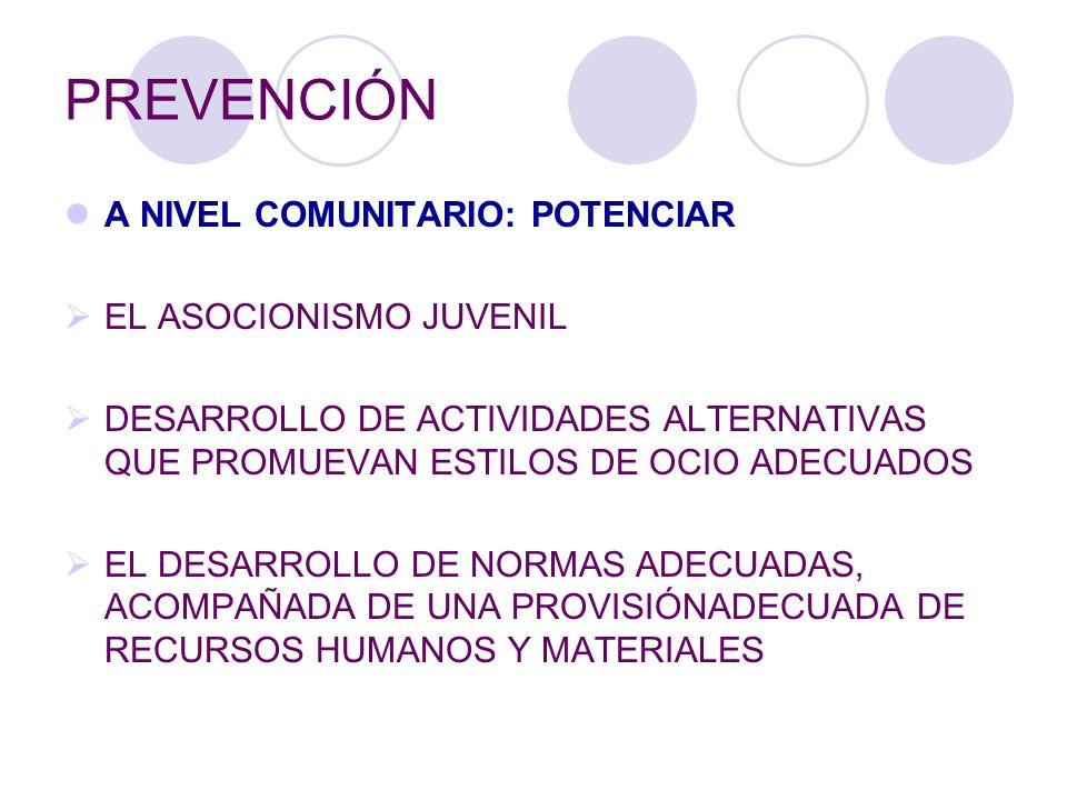 PREVENCIÓN A NIVEL COMUNITARIO: POTENCIAR EL ASOCIONISMO JUVENIL