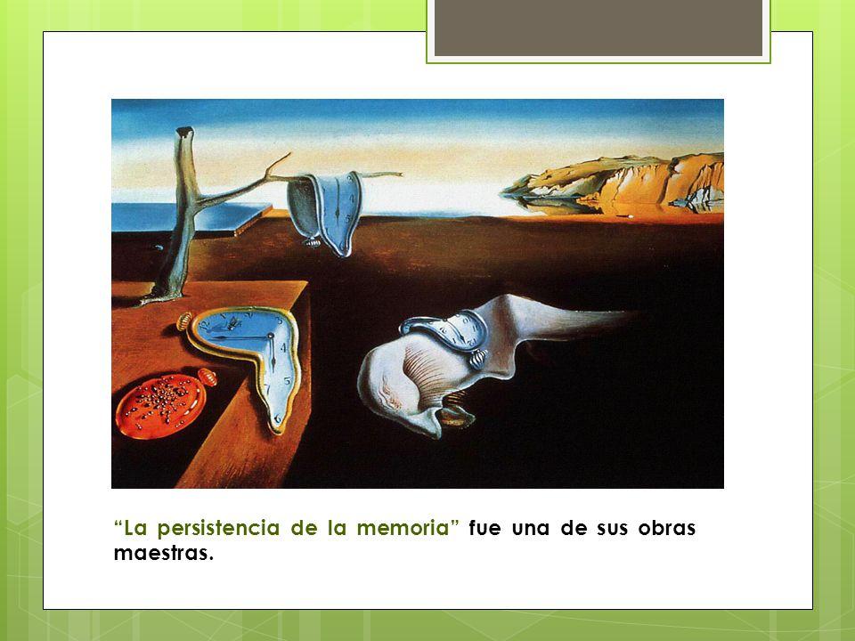 La persistencia de la memoria fue una de sus obras maestras.