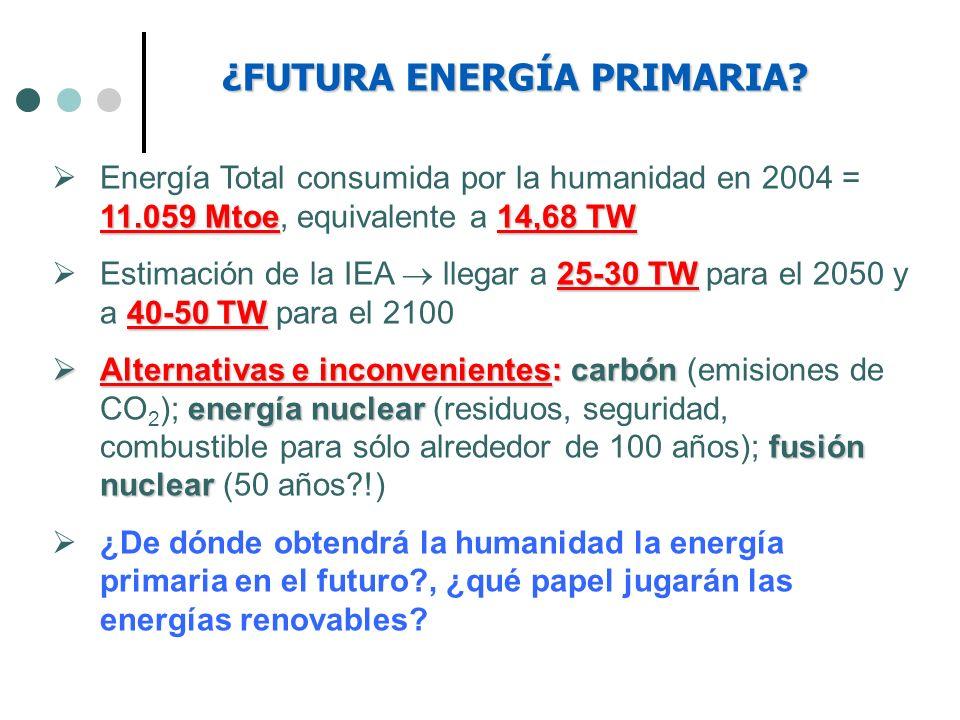 ¿FUTURA ENERGÍA PRIMARIA