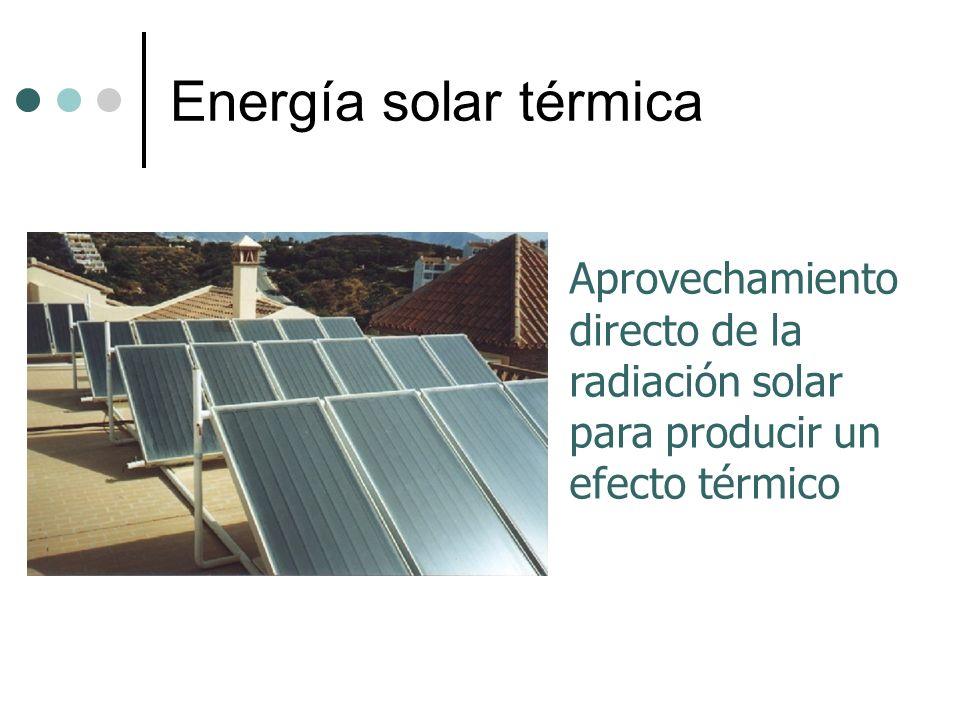 Energía solar térmica Aprovechamiento directo de la radiación solar