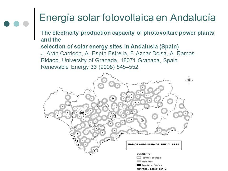 Energía solar fotovoltaica en Andalucía