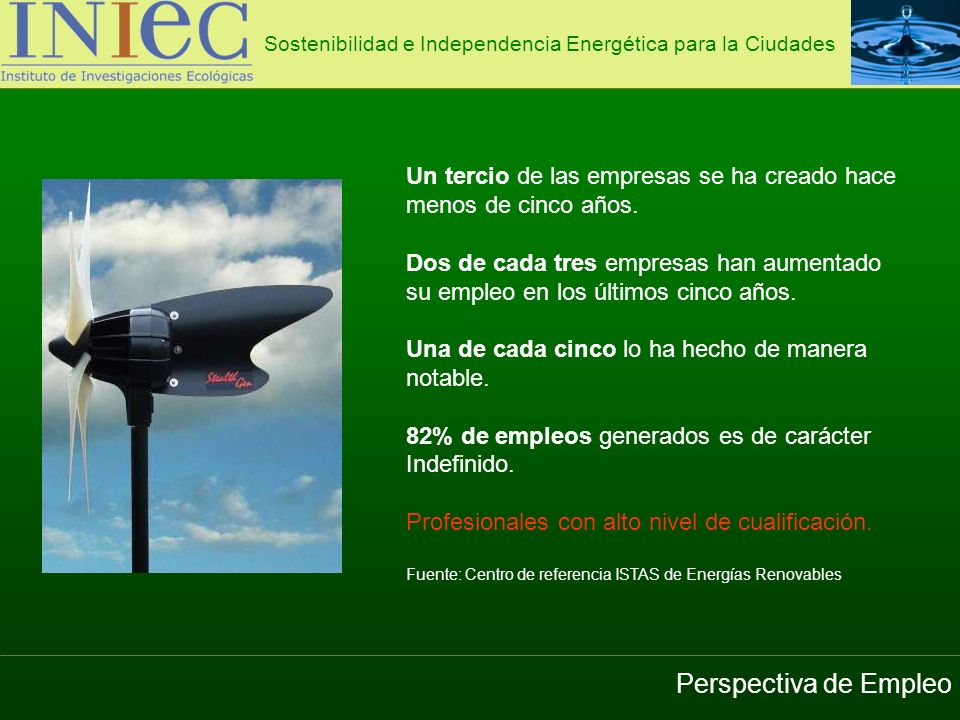 Sostenibilidad e Independencia Energética para la Ciudades