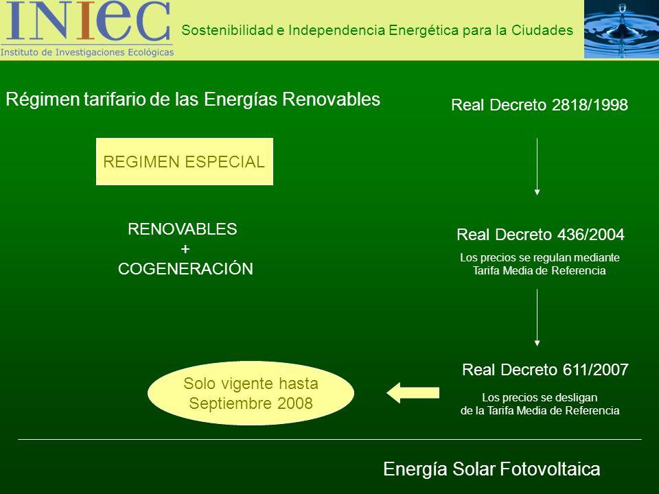 Régimen tarifario de las Energías Renovables