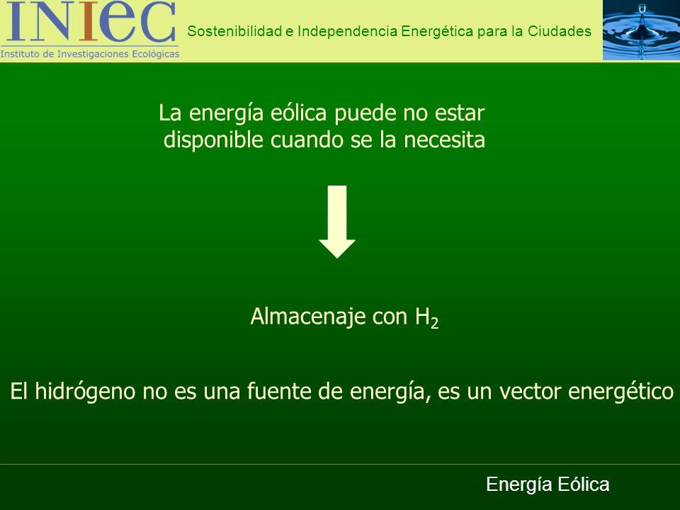 La energía eólica puede no estar disponible cuando se la necesita