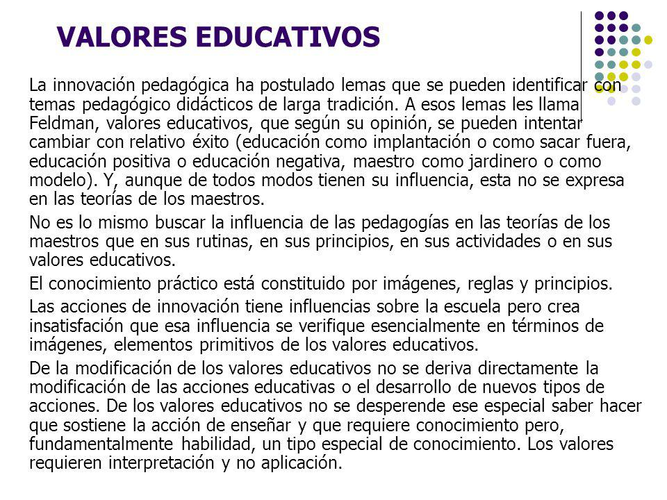 VALORES EDUCATIVOS