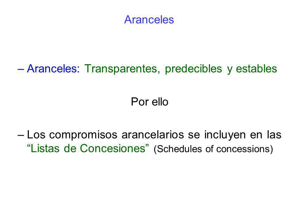 Aranceles: Transparentes, predecibles y estables Por ello