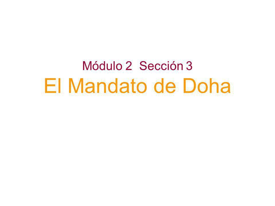 Módulo 2 Sección 3 El Mandato de Doha 51