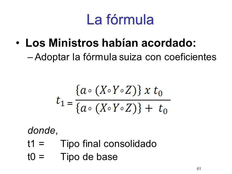 La fórmula Los Ministros habían acordado: