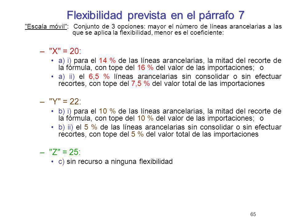 Flexibilidad prevista en el párrafo 7