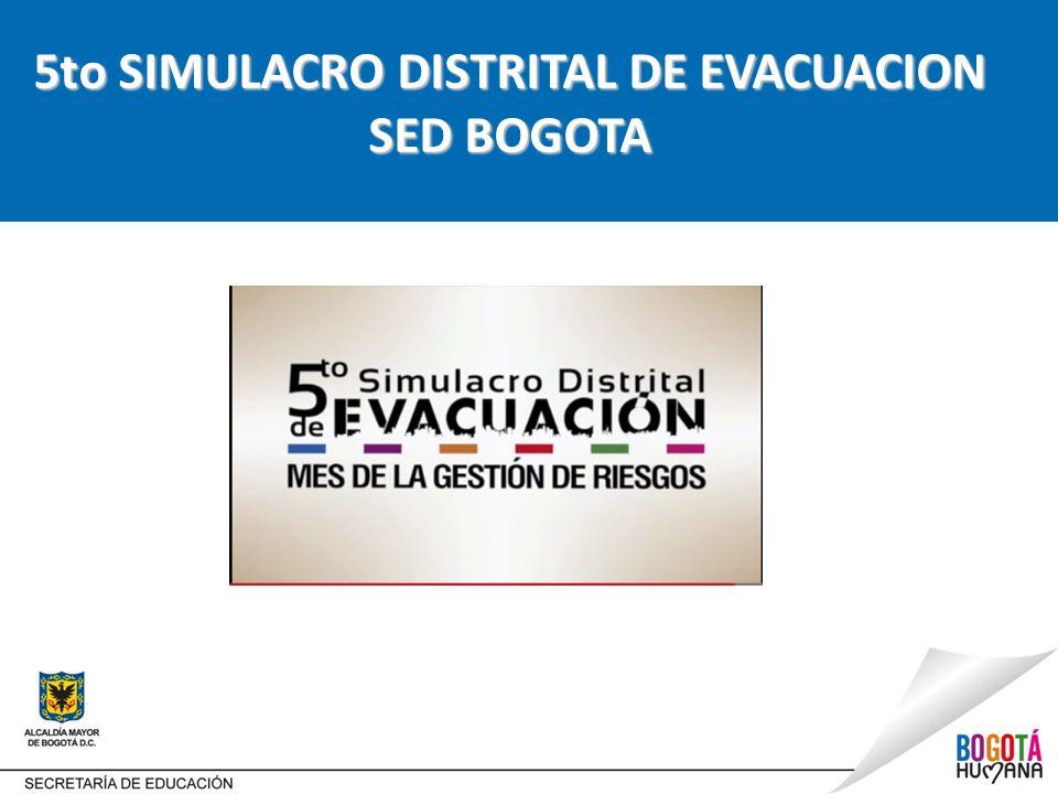 5to SIMULACRO DISTRITAL DE EVACUACION